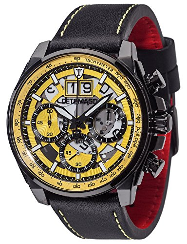 Detomaso Herren-Armbanduhr Livello Analog Quarz Edelstahl DT2060-A