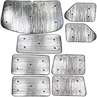 Summit sum-1634 Luxus-Thermo Rollo-Set passend für Volkswagen T4 (1990–2003) 8 Stück Kit