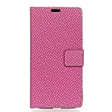 YYX Huawei honor 7A Hülle,Premium Handy Schutzhülle PU Leder Wallet Schutzhülle Tasche Flip Brieftasche Retro Klassik Ledertasche Bookstyle mit Magnet Standfunktion für Huawei honor 7A - Rose rot