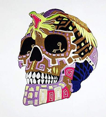 rabana XXL King Cobra Snake Sugar Skull der Savage Motorrad Biker Club Patch für Heimwerker Bone Ghost Hog Outlaw Hot Rod Motorräder Rider Lady Biker Jacket T Shirt Patch Sew Iron on gesticktes Badge Schild Kostüm
