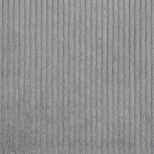 Fabulous Fabrics Breitcord 16 - grau - Meterware ab 0,5m - zum Nähen von Herbst-/Winterkleidung, Röcke und Jacken - Grau Cord