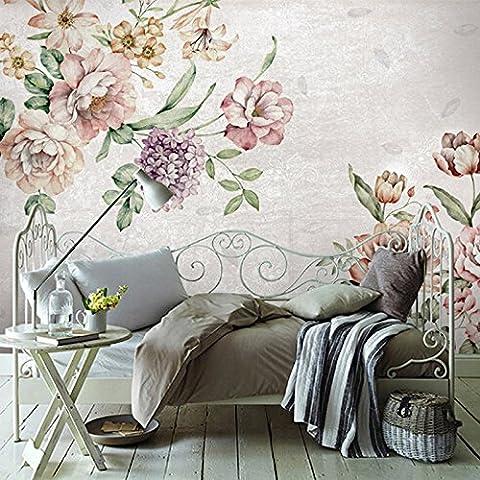 HUANGYAHUI Garten Blumen Tapeten im Wohnzimmer Tv Hintergrund Tapete Hochzeit Zimmer Schlafzimmer Wand nahtlose Wandbild-180cmx120cm