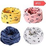 Danolt Multiuso Sciarpa per Bambini, 2 in 1 Cute Cappello del Cotone Sciarpa O-Scaldacollo Loop per Bambino 0-3 Anni, 4…