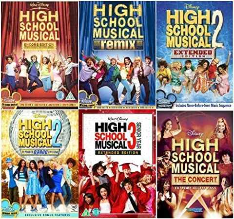 The Complete High School Musical 1 -3 DVD Collection- Encore