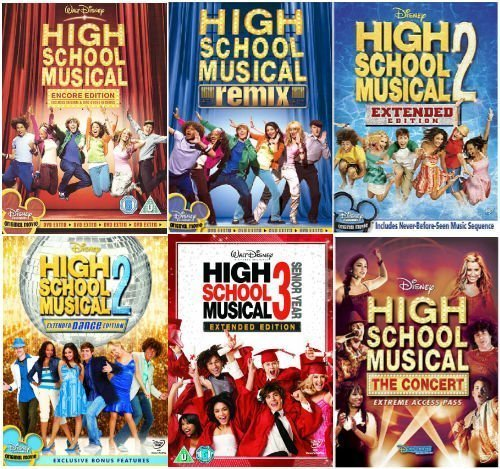 The Complete High School Musical 1 -3 DVD Collection- Encore Edition / High School Musical - Remix Edition /High School Musical 2 - Extended Edition / High School Musical 2 - Dance Edition / High School Musical 3 - Senior Year / High School Musical - The Concert by Monique Coleman (Year School 3 High Senior Musical)
