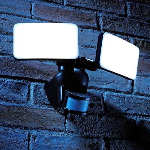 Auraglow Luces Reflectoras para Exteriores con Sensor PIR de Movimiento Infrarrojo para...
