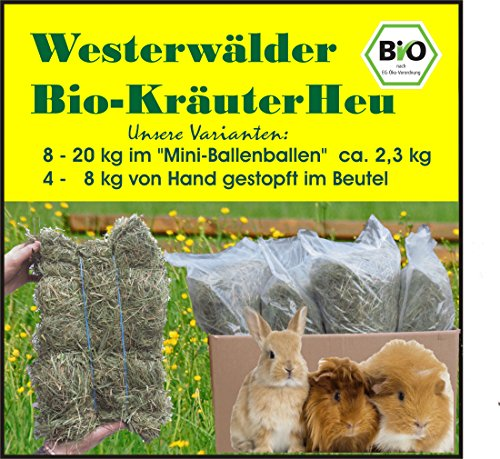 20 kg Westerwälder Bio KräuterHeu in 8-9