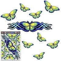 Blauer Schmetterlings-großer Tieraufkleber für Auto-Wohnwagen-LKW-Boote - ST00021BL_LGE - JAS Aufkleber
