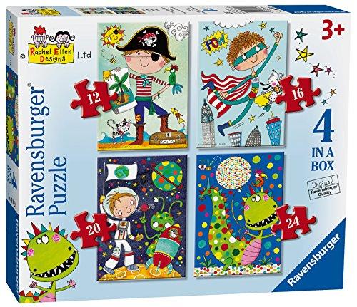 Ravensburger Rachel Ellen erstaunlichen Abenteuer, 4in Einer Box (12, 16, 20, 24-) Puzzle - 24 Stück Dinosaurier-puzzle