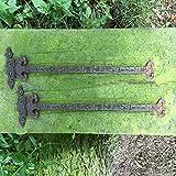 Antikas - 2 x Türbänder Torband Eisenbeschläge Truhenband Antik Beschlag mittelalterlich