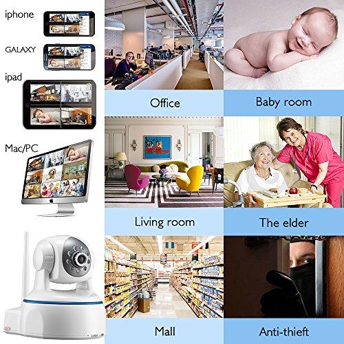 Minidiva Indoor 1080P 2 Megapixel drahtlose WIFI IP-Überwachungskamera – 350 Grad (horizontal) - 7