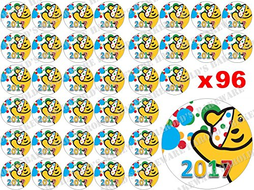 96-x-3cm-BBC-Children-in-Need-Pudsey-Bear-2017-Spots-Bake-Off-Cake-Sale-Fairy-Muffin-Cup-Cake-Toppers-Decoration-Edible-Rice-Wafer-Paper