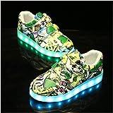 WXBYDX Scarpe per Bambini Che Si Illuminano,LED Luminosi Sneakers USB Ricaricabile 7Colori Lampeggiante Bright Tennis Shoes