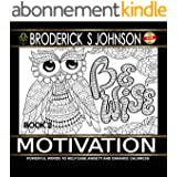 Motivation Book #2: Powerful Words To Help Ease Anxiety and Enhance Calmness (Adult Coloring Books - Art Therapy for The Mind 6) (English Edition)