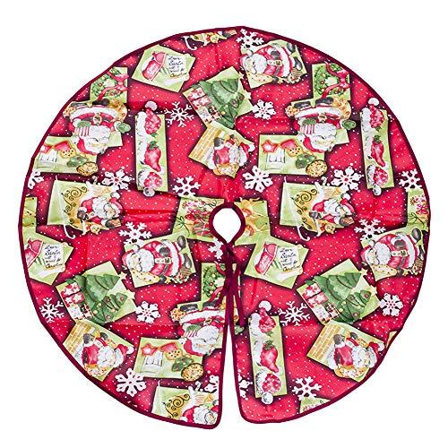 Da.Wa 1X Rojo Árbol Navidad Falda Impresión Decoración