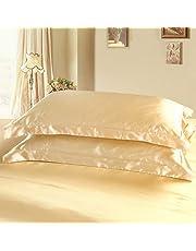 Dehman 2X 100-Percent Silky Satin Pillowcase for Hair Beauty, Prevent Side Sleeping Wrinkles, Have Good Dreams