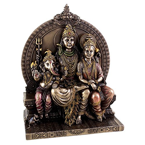 Collectible India Lord Shiva Family Idol Hindu Religious Statue Shiv Parwati Ganesha Murti Large Sculpture | Diwali Gifts Items For Home