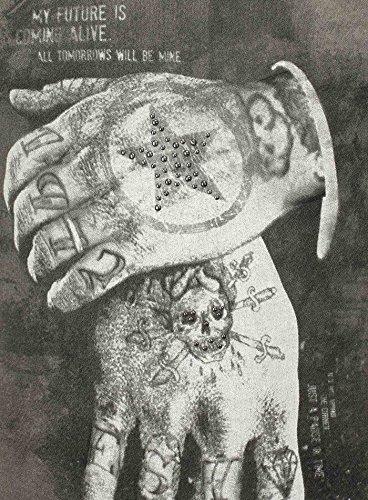 Key Largo Herren T-Shirt ALIVE Vintage Look Nieten Hände Tattoo Sommershirt Grün