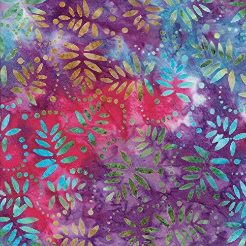 Viola 100% cotone Bali batik Tie Dye Patterns tessuto per patchwork e quilting-(prezzo al metro/Quarter