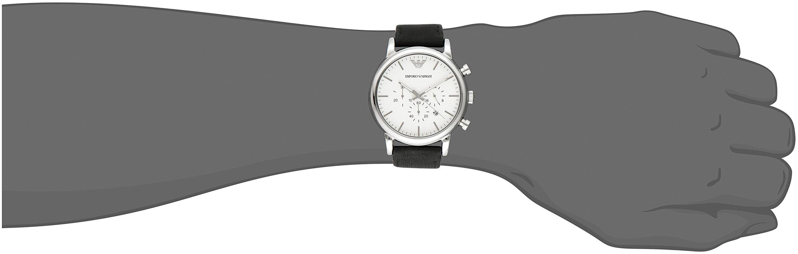 Emporio Armani Reloj para Hombre de Cuarzo con Correa en Cuero AR1807