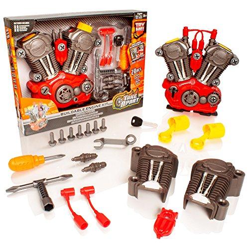 Take Apart Kit de Herramientas para Motor de automóvil armable Luces y Juguetes para construcción de Sonidos