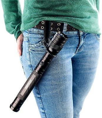 KryoLights Taschenlampe-Holster: Gürtelring für Taschenlampen bis 43 mm Durchmesser (Taschenlampe Gürtelbefestigung)
