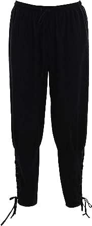 Bslingerie® Mens Elasticated Comfortable Waist Medieval Renaissance Pirate Trousers