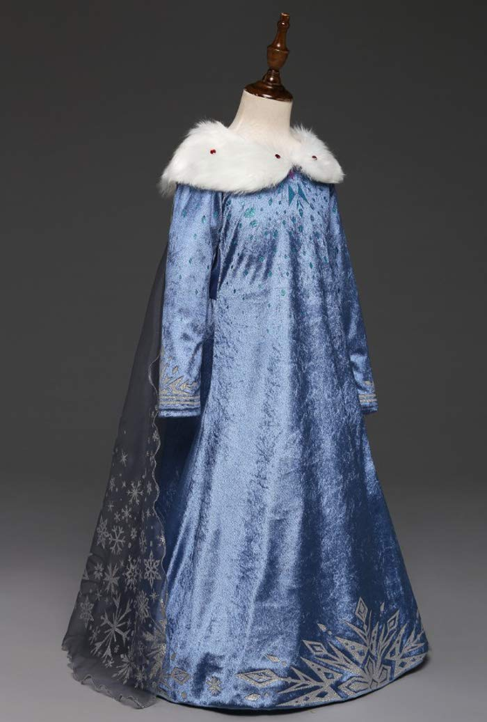 Princess Vestito Carnevale Bambina Abito Costume Bimbi Deluxe Elsa 131 4 spesavip
