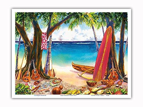Disfruta del sabor 'Aloha' con estas hermosas copias de obras artísticas hawaianas de Pacifica Island Art. Esta copia quedará genial enmarcada en casa, la oficina o el restaurante. Es perfecta para el coleccionista del arte hawaiano.