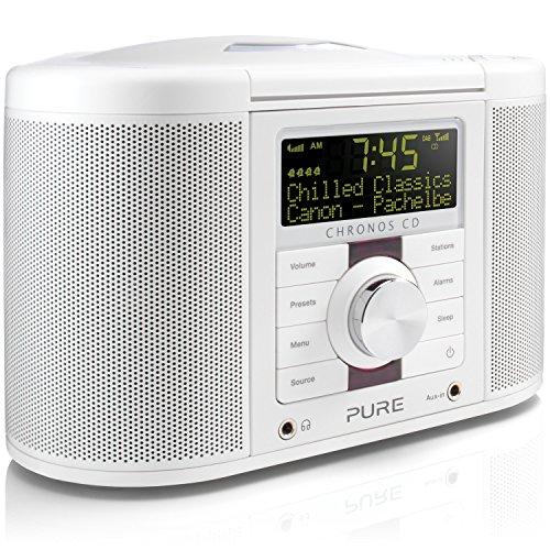 Pure Chronos CD Series 2 (Digitalradio, CD, DAB/DAB+ UKW-Radio, Weckfunktionen und Sleep-Timer, Lichtsensor und 30 Senderspeicherplätze, USB, AUX), Weiß - Serie-track-beleuchtung