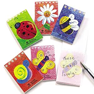 Mini Scented Notebooks for Kid's Party Bag Fillers & Lucky Dip Prizes (Pack of 12)