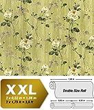 Vliestapete 3D Blumentapete EDEM 975-38 XXL Floral Rosen Tapete Vintage-Muster Barock grün olivegrün grau weiß 10,65 qm