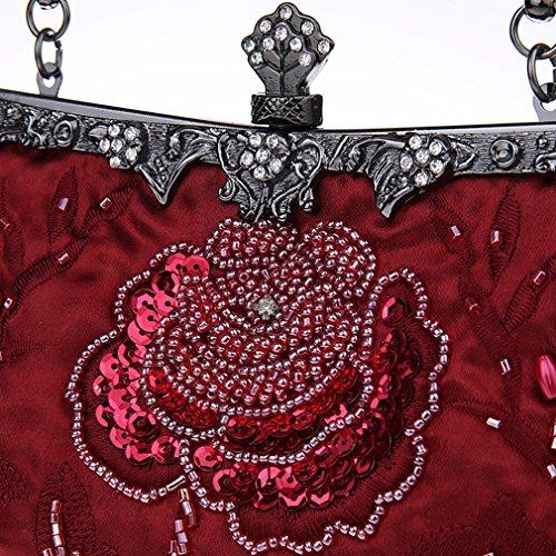 Belsen, Borsa a spalla donna rosso Red Taglia unica Red Wine