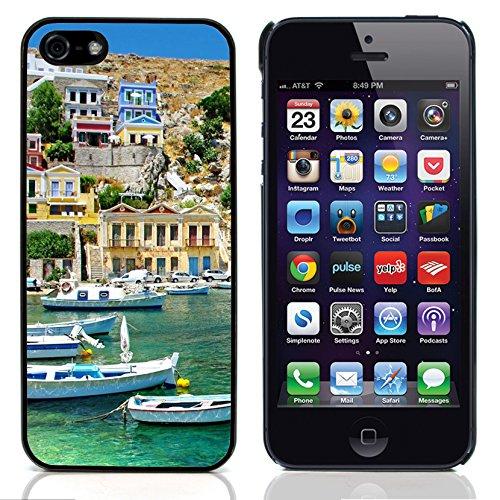 Graphic4You White Houses Greece Postkarte Ansichtskarte Design Harte Hülle Case Tasche Schutzhülle für Apple iPhone 5 und 5S Design #1