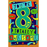 Age 8 Totally Awesome Birthday Card