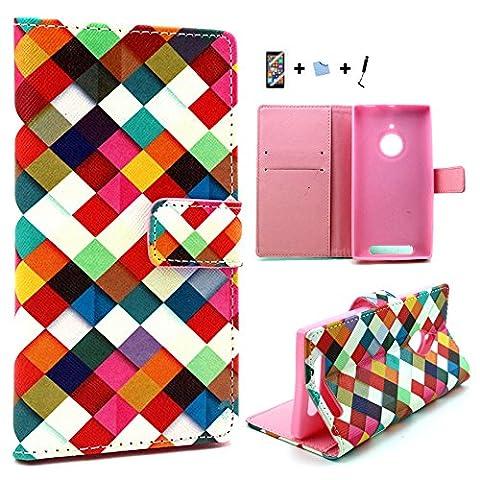 Coque Pour Lumia 830 - E-Max 4 en 1 Magnétique pochette Case