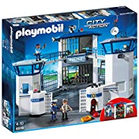 Playmobil 6919 Man City Action Police Headquarters with Prison, Multi-Colour