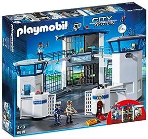 PLAYMOBIL City Action Comisaría de Policía con Prisión, a Partir de 5 Años (6919)