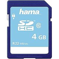 Hama Speicherkarte SDHC 4GB (SD-2.0 Standard, Class 10, High Speed, Datensicherheit dank mechanischem Schreibschutz…