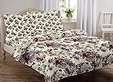 #5: AURAVE Multicolor Floral Design Pattern Reversible Premium Cotton Duvet Cover/Quilt Cover -King Size