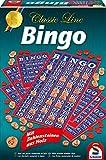 Schmidt Spiele 49089 49089-Classic Line-Bingo, Mit extra großen Zahlensteinen, bunt