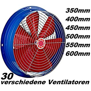 350mm 3350m³/h Industrie Axial Wand Ventilator Gebläse Axialgebläse  Axialüfter Axialventilator Wandventilator Wandlüfter Wandgebläse Wand