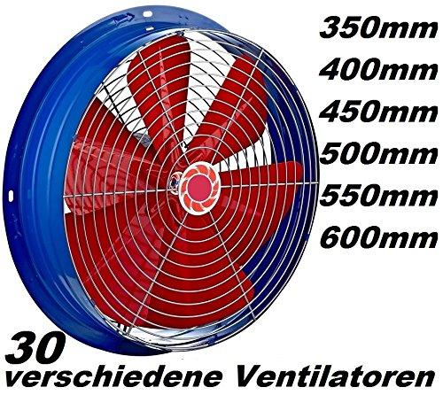 250mm Industrie  Wandlüfter Grossraum Wand-Fenster Lüfter Ventilator Gebläse