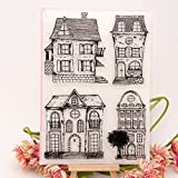 Runrain Maison Effacer Joint en caoutchouc de silicone Tampons , DIY Album photo scrapbooking carte Decor