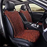 DDI Asiento verano cojines de madera del grano de amortiguador del coche fundas de asiento universal Covers Set Acogedor ( Color : A )
