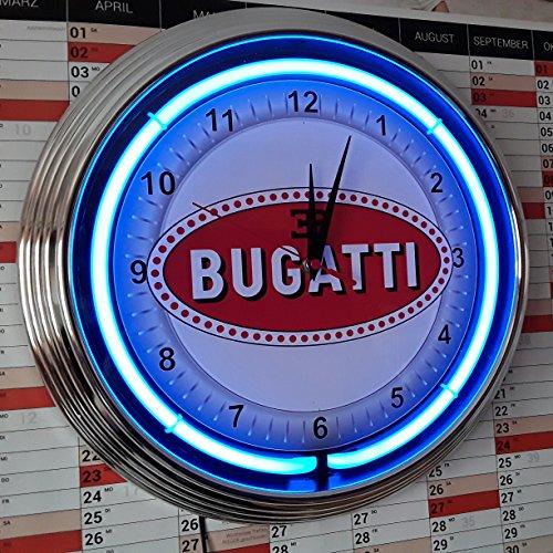 bugatti-horloge-murale-horloge-clock-neon-fluo-lumineux-avec-neon-bleues-bague-retro-publicite-publi