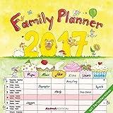 Familienplaner 2017 - Broschürenkalender (30 x 60 geöffnet) - mit 6 Spalten - mit Ferienterminen - Familientermine - Wandplaner