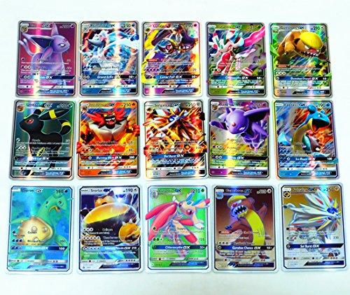 200 Pcs Pokemon TCG - Karten 53 Ex Cards & 60 Mega Karten - 80 gx Cards & 7 Energie Karten (Englische fassung)
