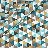 Baumwolle Stoff Geometrisch Meterware ocker gelb Dreieck
