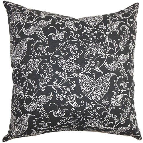 Europäische Paisley-sham (The Pillow Collection Alaine Paisley-Bettwäsche, Schwarz, Weiß, europäisch, 66 x 66 cm)